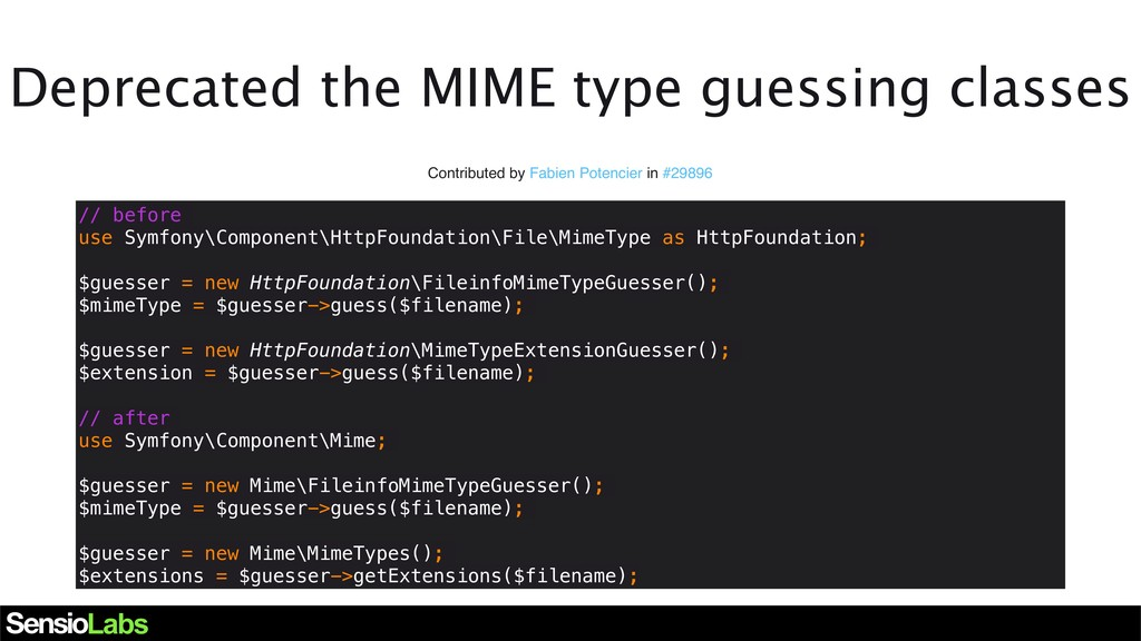 Deprecated the MIME type guessing classes Contr...