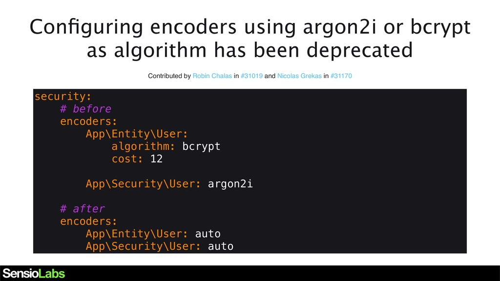 Configuring encoders using argon2i or bcrypt as ...