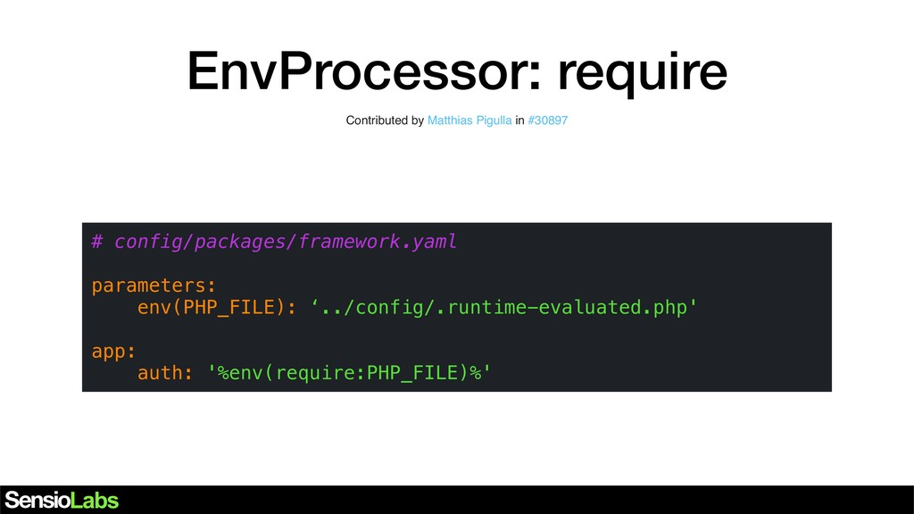 EnvProcessor: require Contributed by … in … # c...