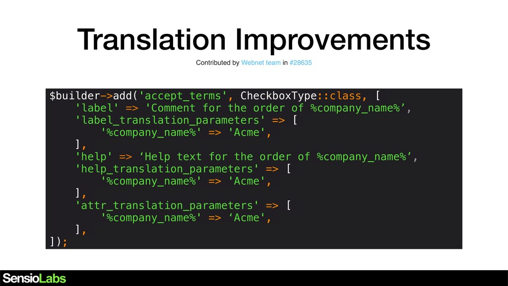 Translation Improvements Contributed by Webnet ...