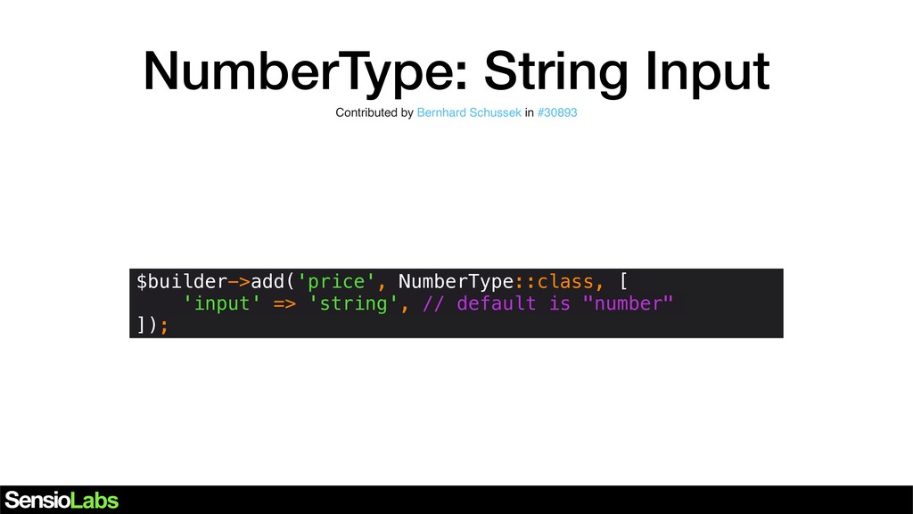 NumberType: String Input Contributed by Bernhar...