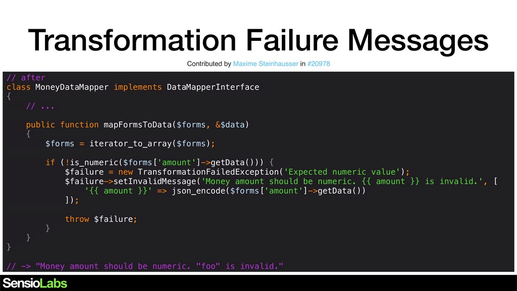 Transformation Failure Messages Contributed by ...
