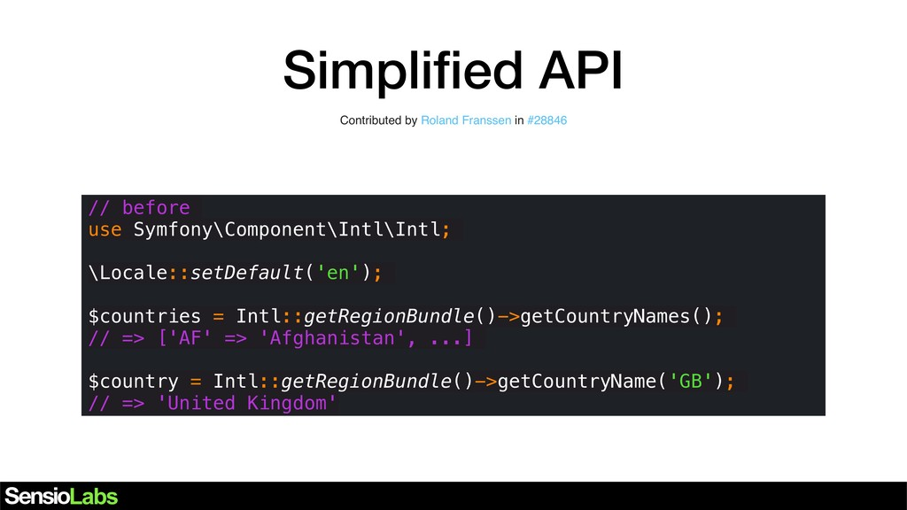 Simplified API Contributed by Roland Franssen in...
