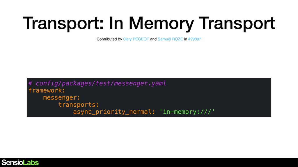 Transport: In Memory Transport Contributed by G...