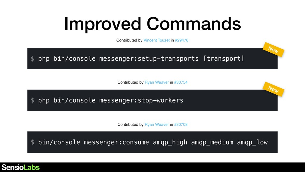 Improved Commands Contributed by Vincent Touzet...