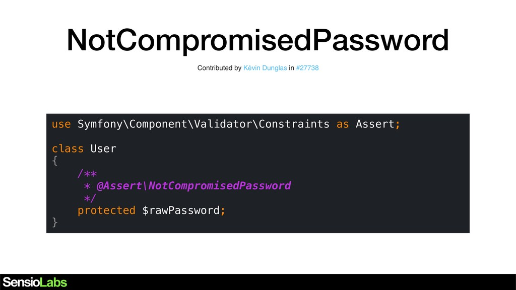 NotCompromisedPassword Contributed by Kévin Dun...