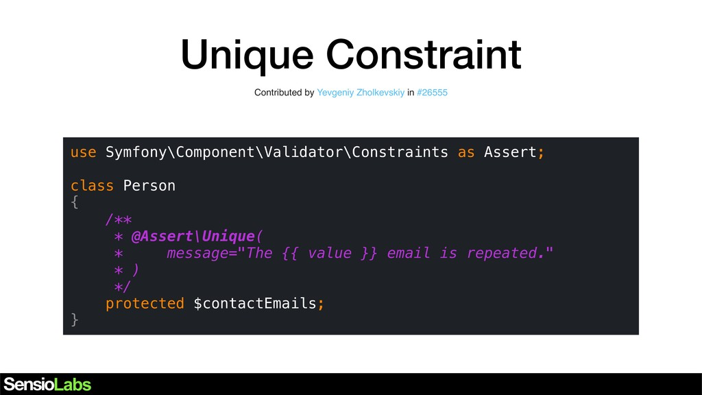 Unique Constraint Contributed by Yevgeniy Zholk...