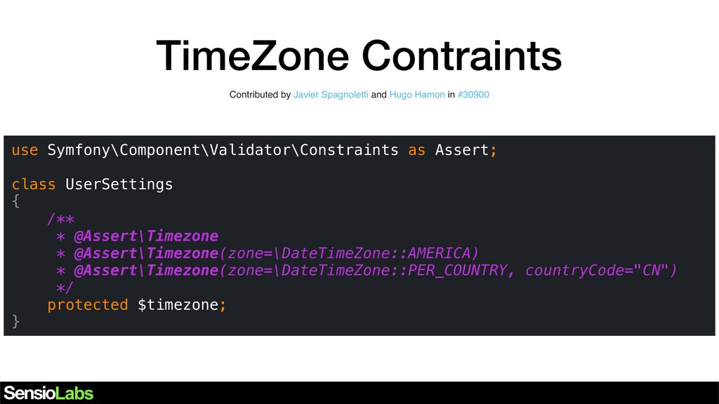 TimeZone Contraints Contributed by Javier Spagn...