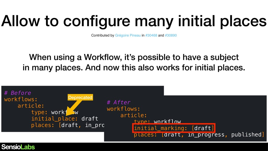 Allow to configure many initial places Contribut...