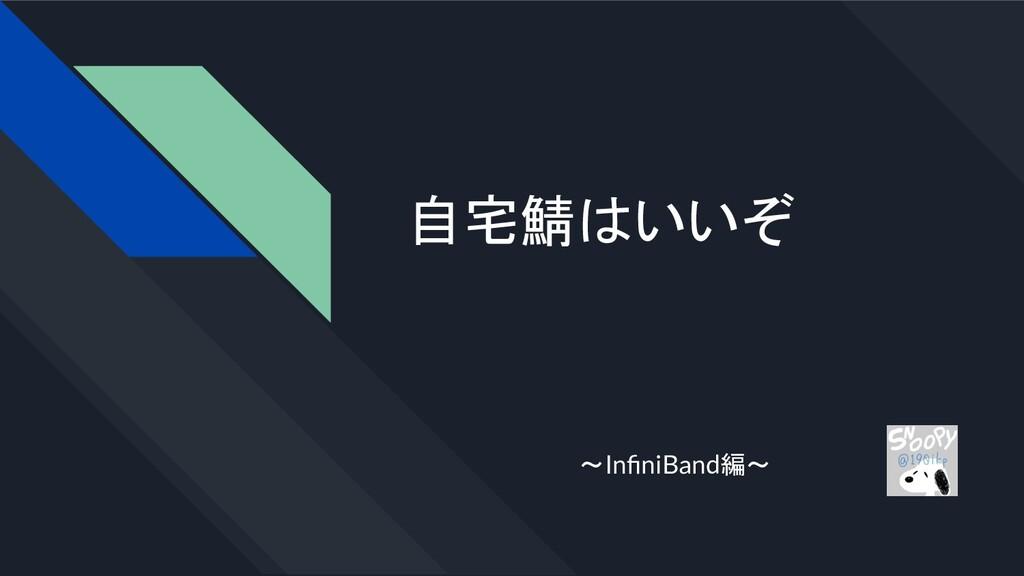 自宅鯖はいいぞ ~InfiniBand編~
