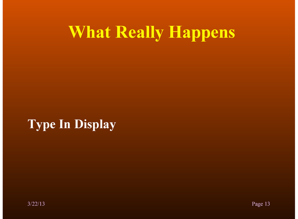 What Really Happens Type In Display 3/22/13 Pag...