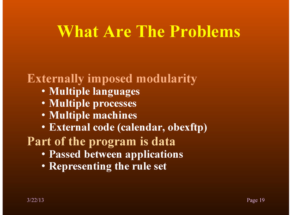 What Are The Problems Externally imposed modula...