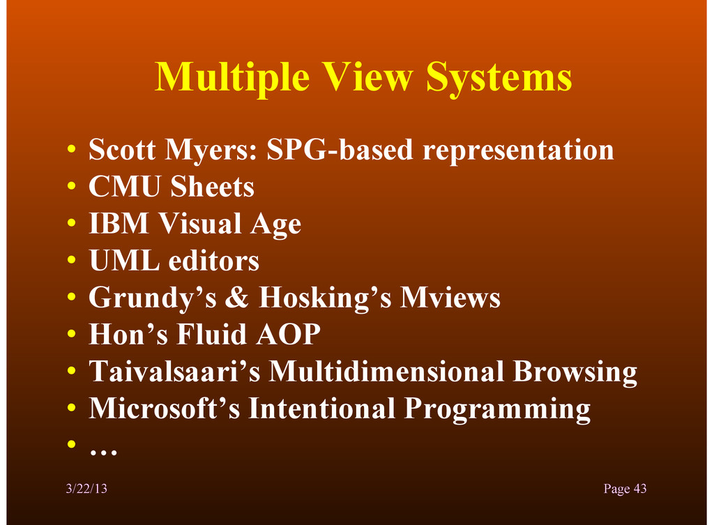 Multiple View Systems • Scott Myers: SPG-based ...