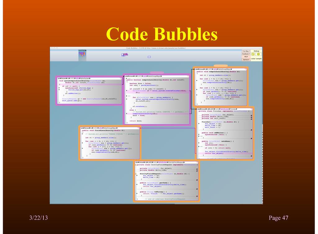 Code Bubbles 3/22/13 Page 47