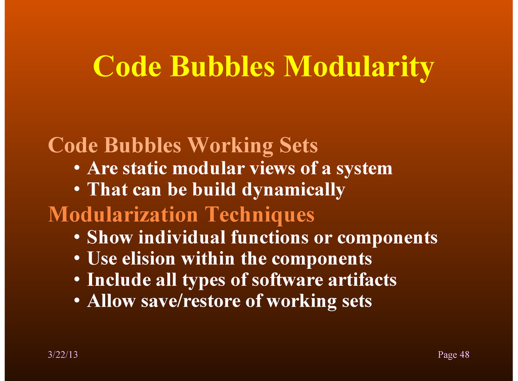 Code Bubbles Modularity Code Bubbles Working Se...