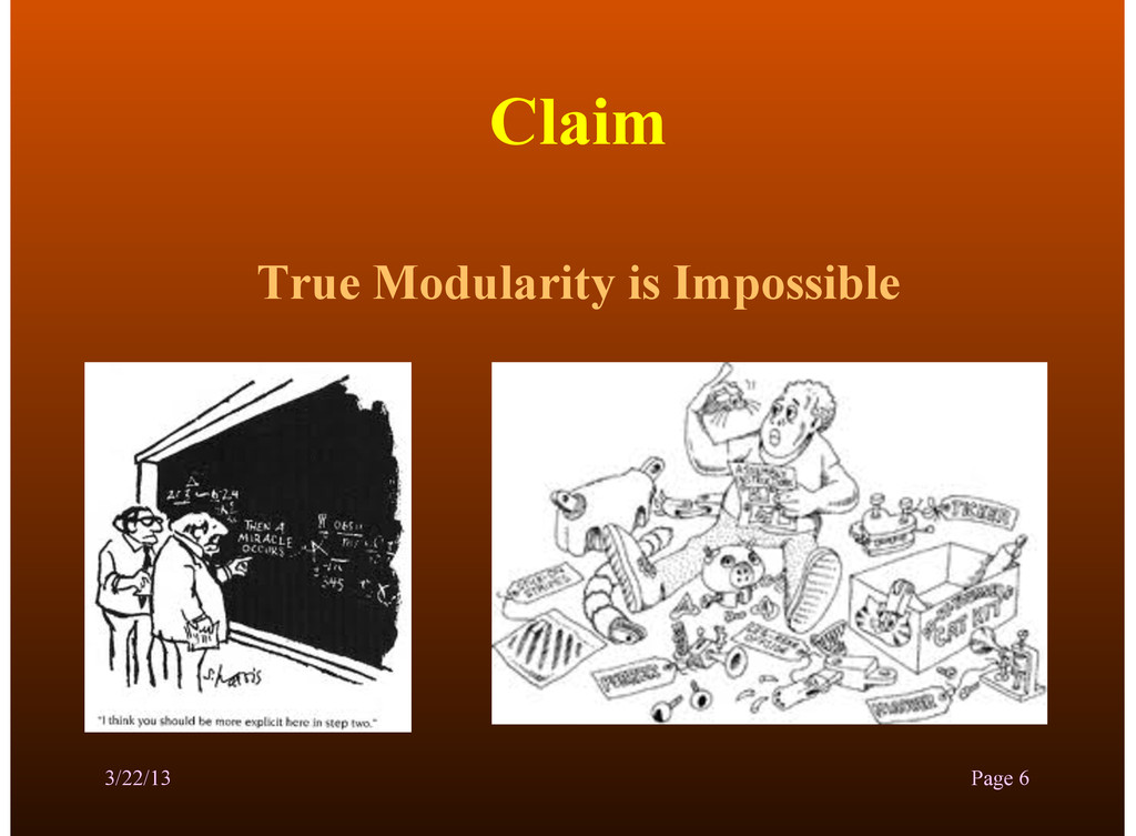 Claim True Modularity is Impossible 3/22/13 Pag...