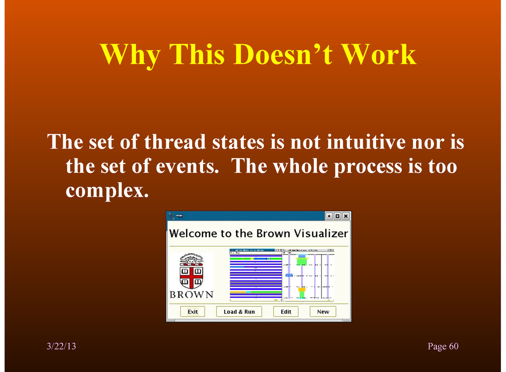 Why This Doesn't Work The set of thread states ...