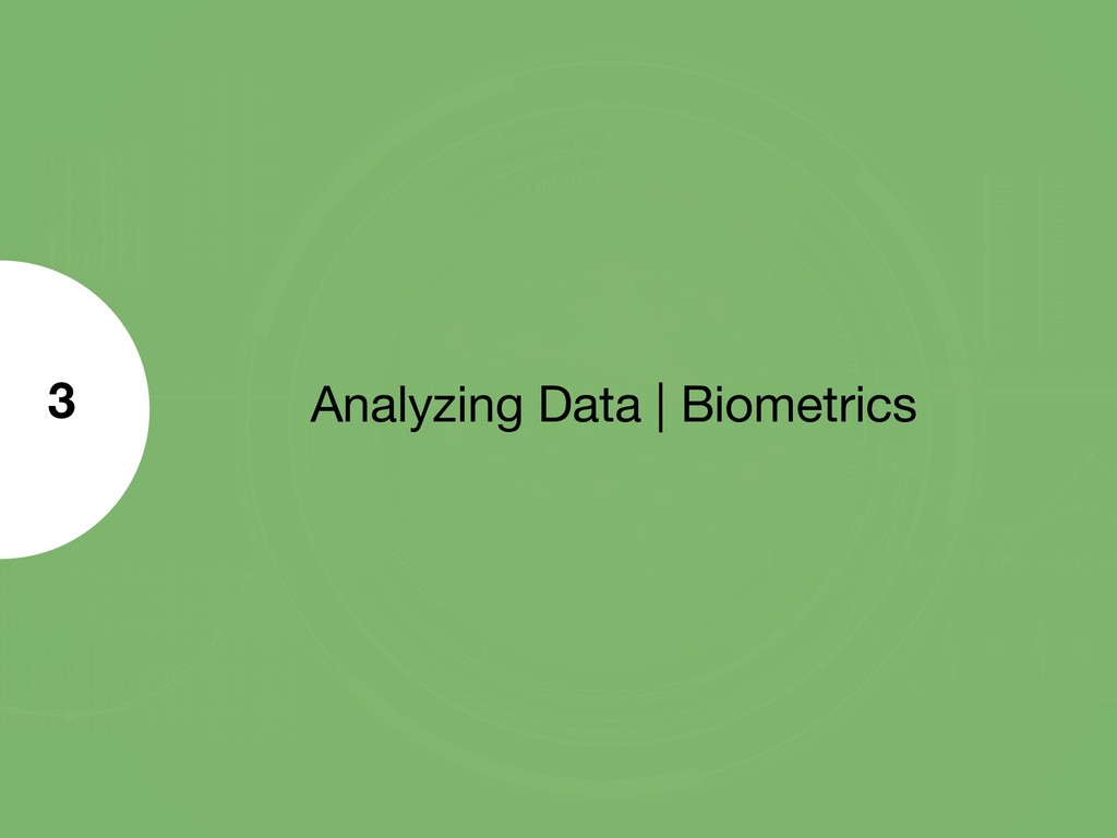 Analyzing Data | Biometrics 3