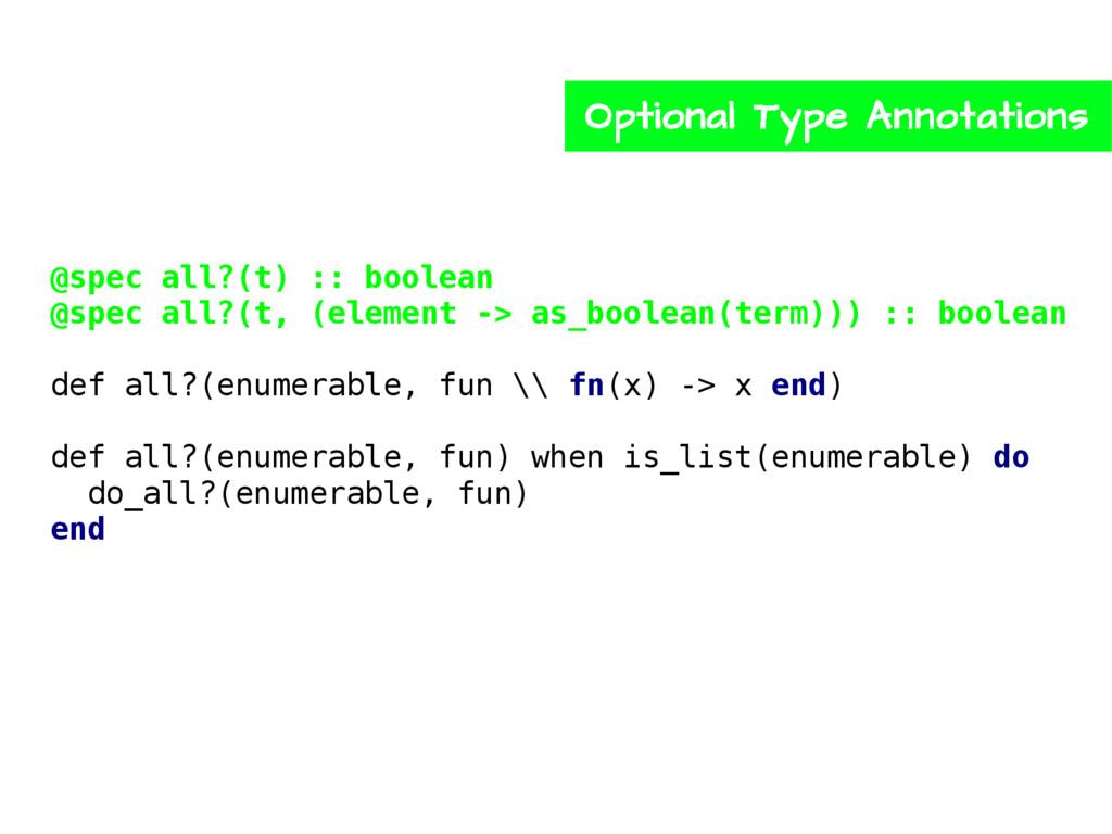 @spec all?(t) :: boolean @spec all?(t, (element...