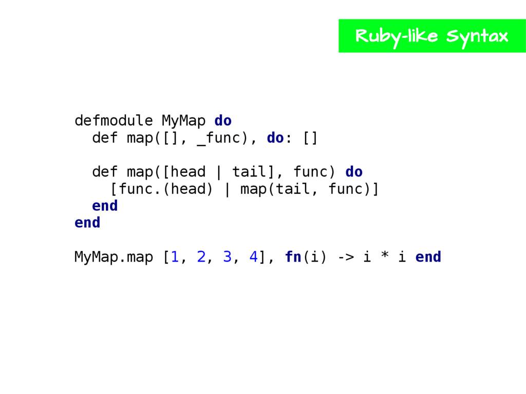 defmodule MyMap do def map([], _func), do: [] d...