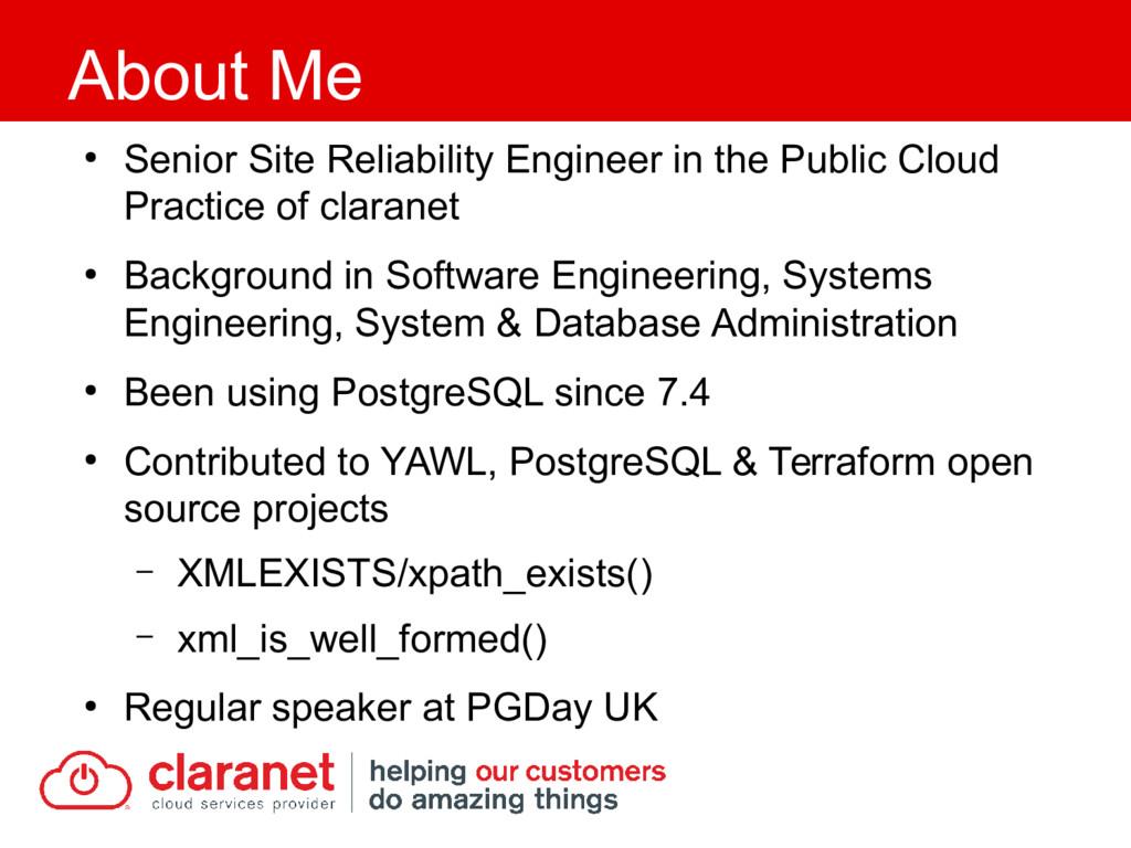 ● Senior Site Reliability Engineer in the Publi...