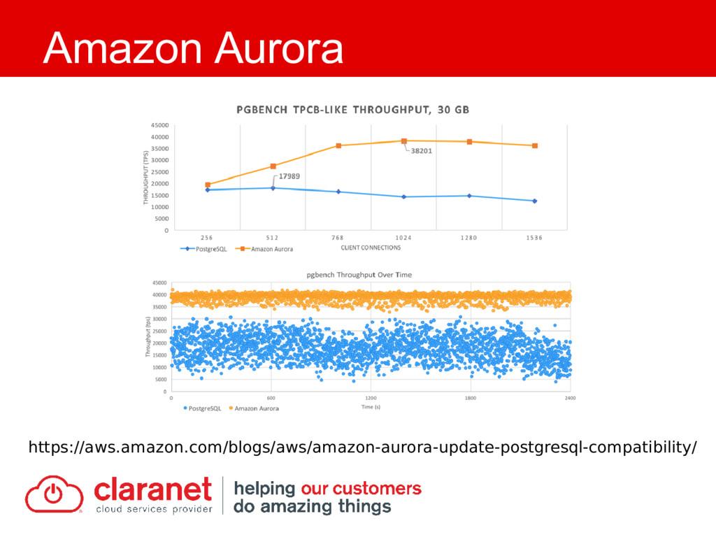 Amazon Aurora https://aws.amazon.com/blogs/aws/...