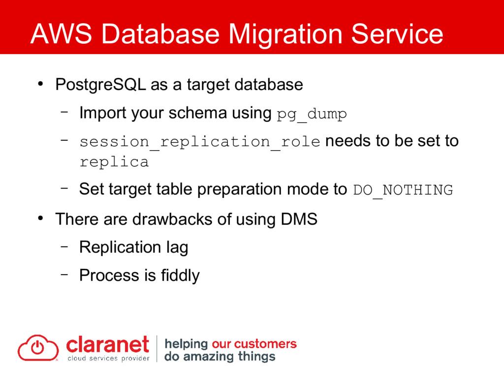 ● PostgreSQL as a target database – Import your...