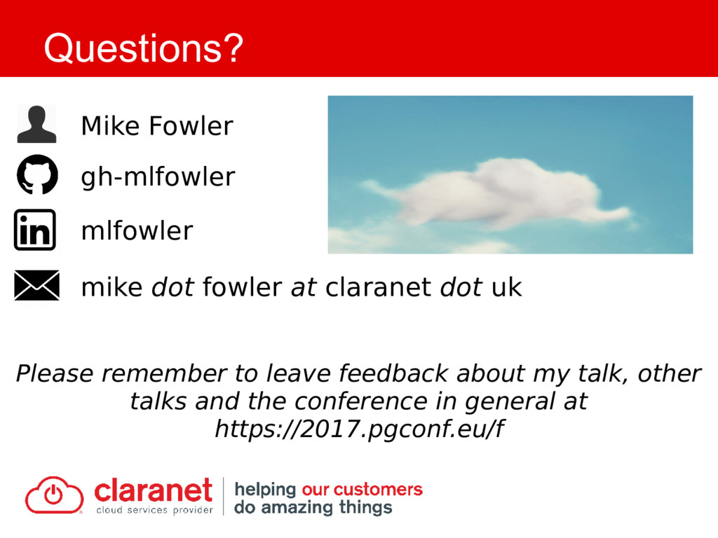 Questions? Please remember to leave feedback ab...