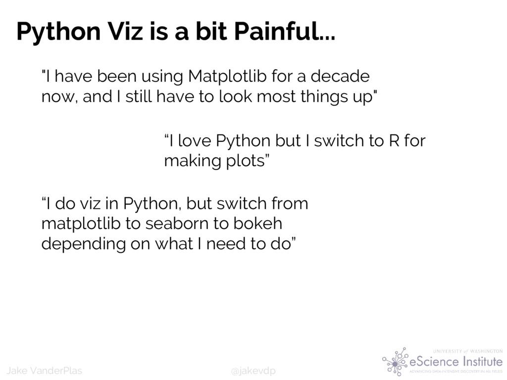 @jakevdp Jake VanderPlas Python Viz is a bit Pa...