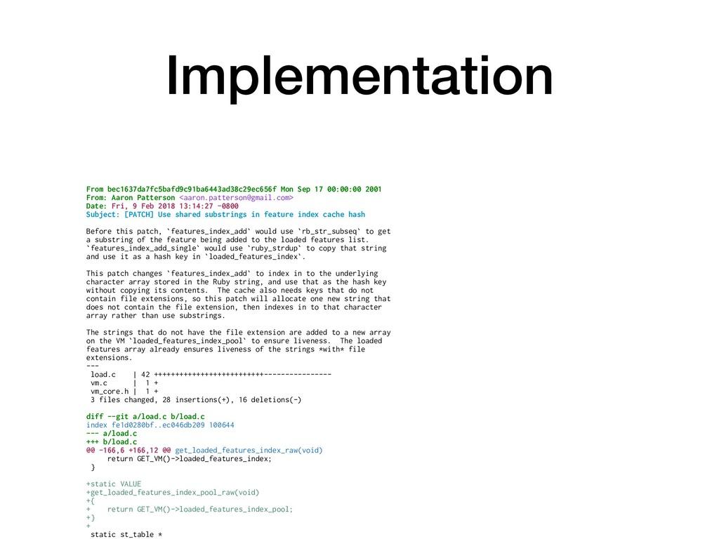 Implementation From bec1637da7fc5bafd9c91ba6443...