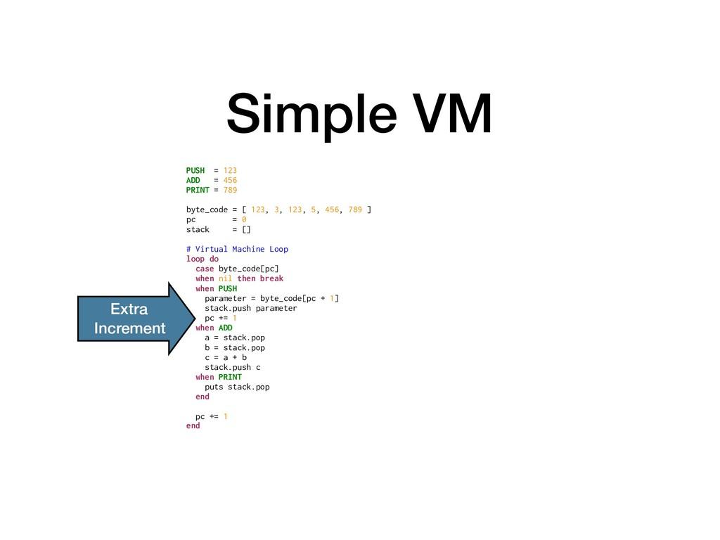 Simple VM PUSH = 123 ADD = 456 PRINT = 789 byte...