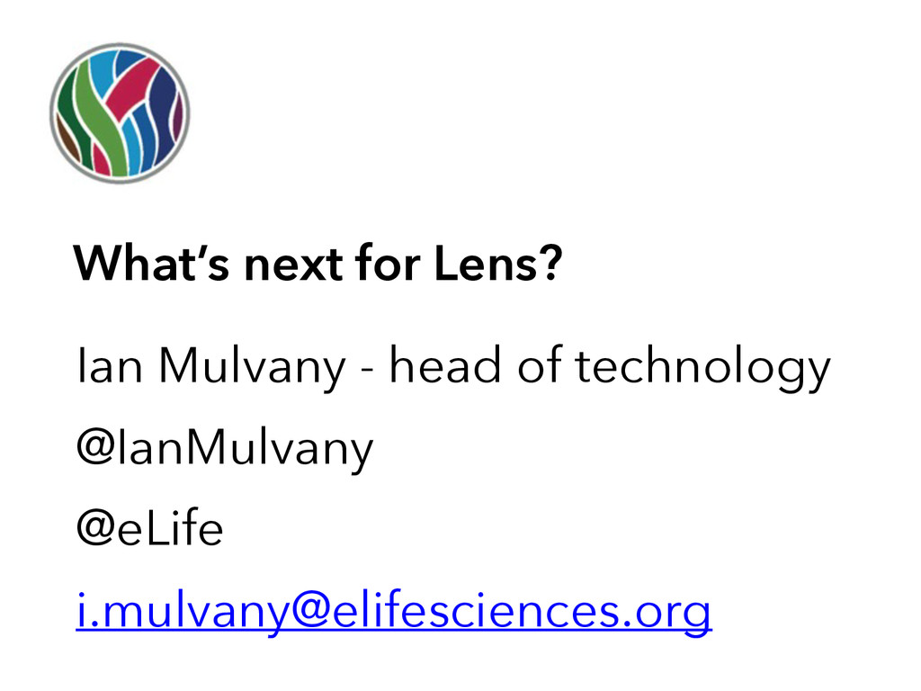 Ian Mulvany - head of technology @IanMulvany @e...
