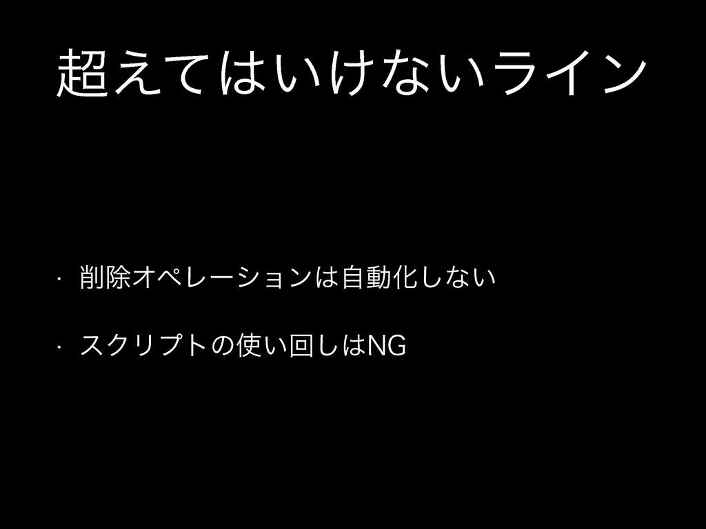 ͍͚͑ͯͳ͍ϥΠϯ w আΦϖϨʔγϣϯࣗಈԽ͠ͳ͍ w εΫϦϓτͷ͍ճ͠/(