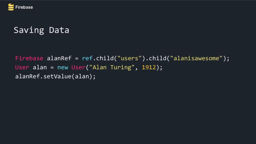 "Firebase Firebase alanRef = ref.child(""users"")...."