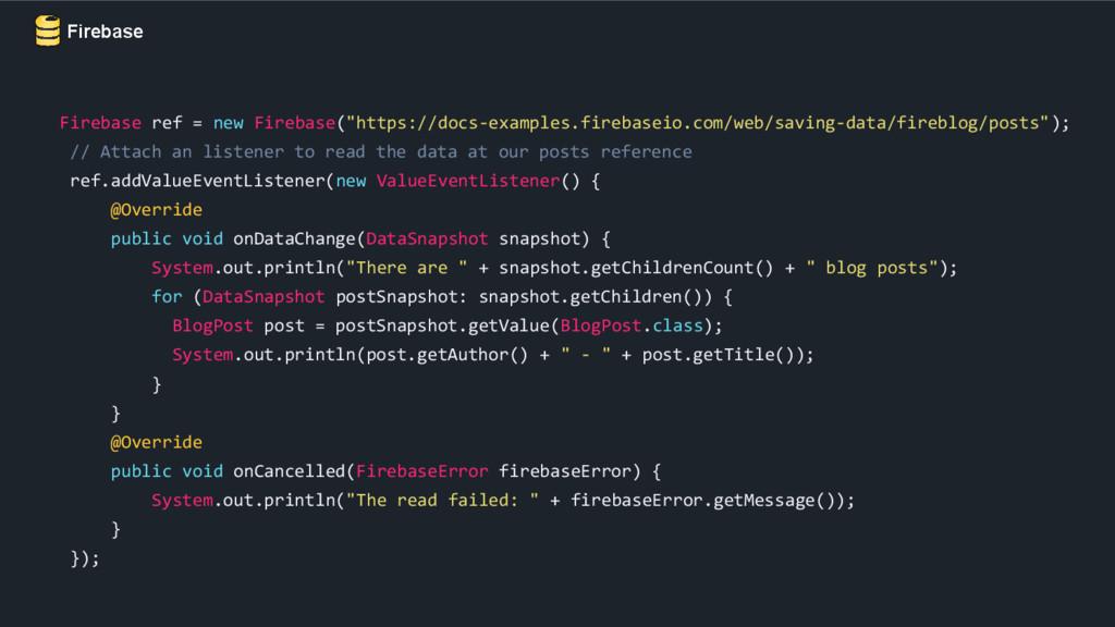"""Firebase Firebase ref = new Firebase(""""https://d..."""