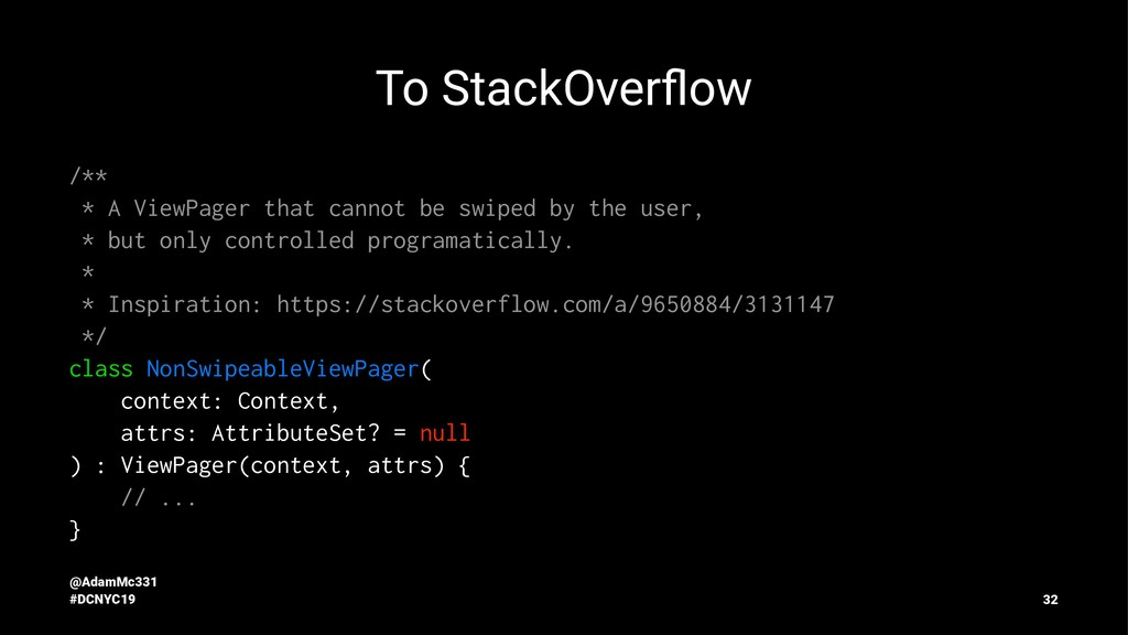To StackOverflow /** * A ViewPager that cannot b...