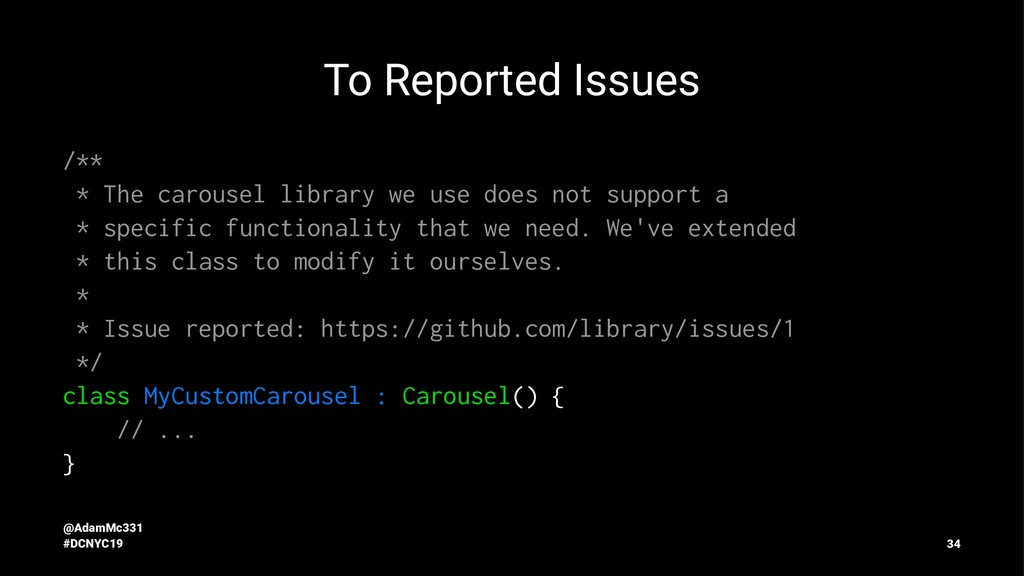To Reported Issues /** * The carousel library w...