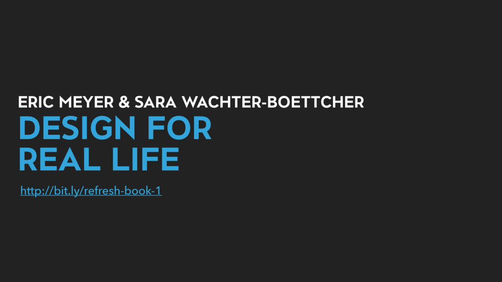 ERIC MEYER & SARA WACHTER-BOETTCHER DESIGN FOR ...