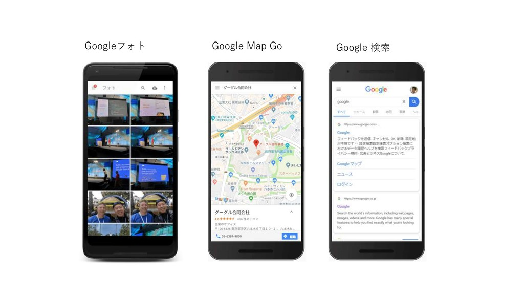 Googleフォト Google Map Go Google 検索