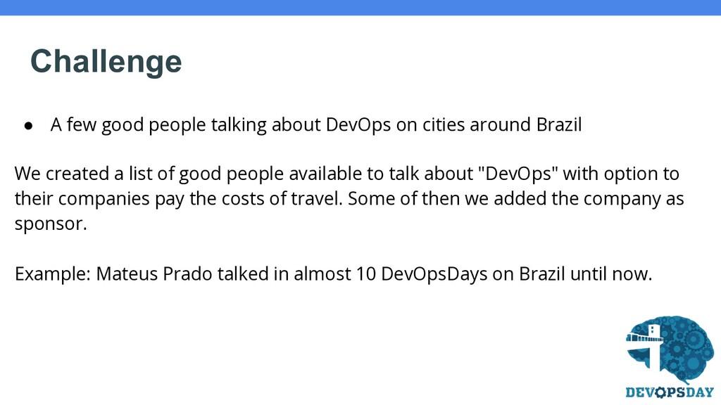 ● A few good people talking about DevOps on cit...