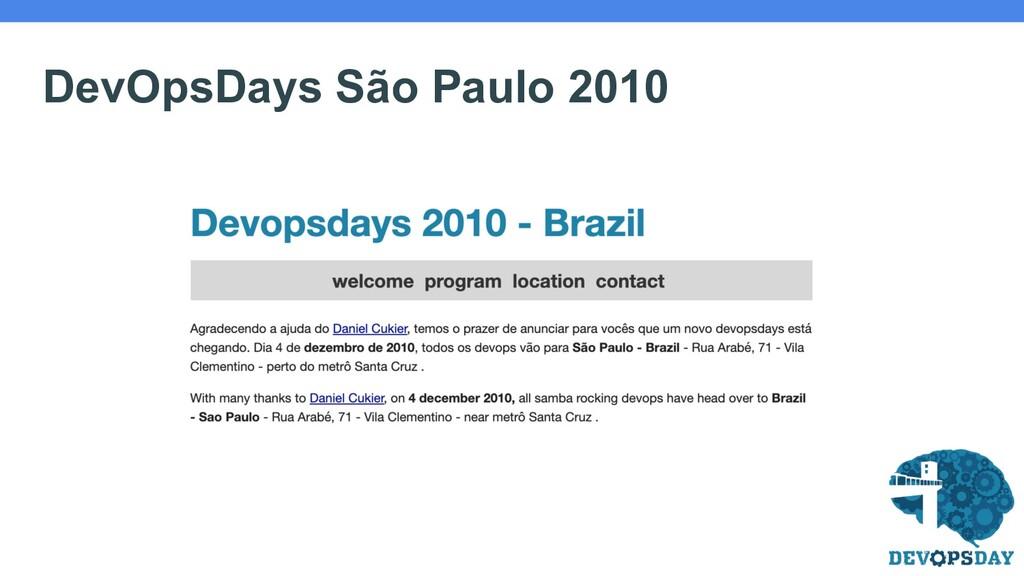 DevOpsDays São Paulo 2010