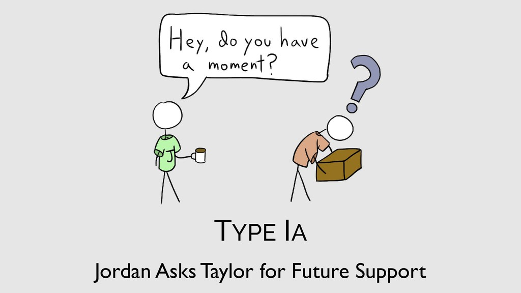 Jordan Asks Taylor for Future Support TYPE IA