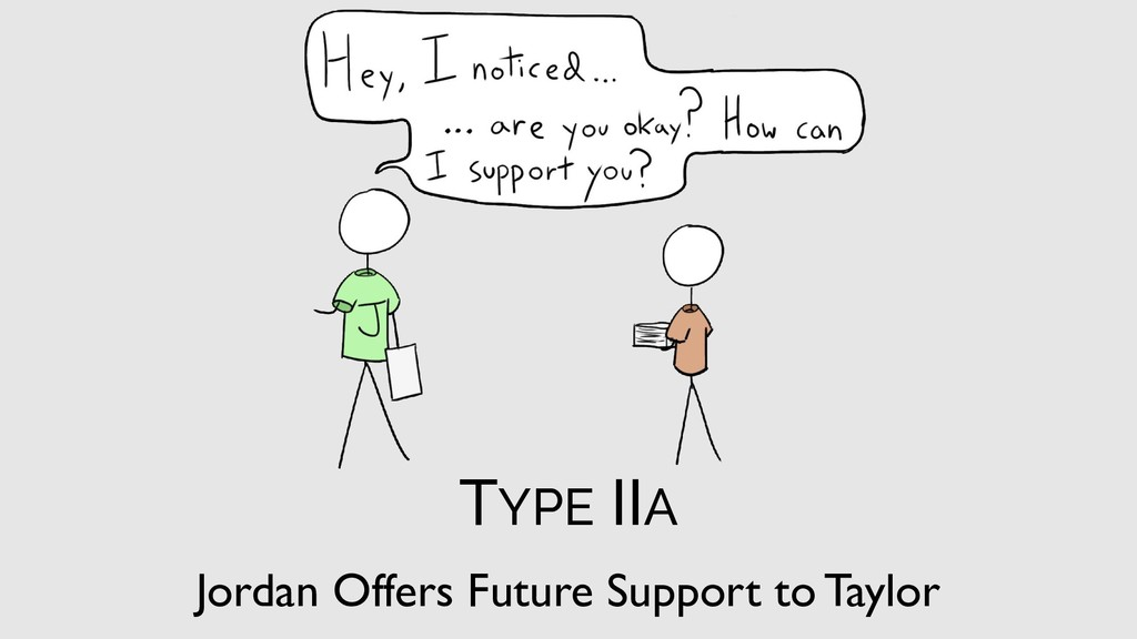 Jordan Offers Future Support to Taylor TYPE IIA