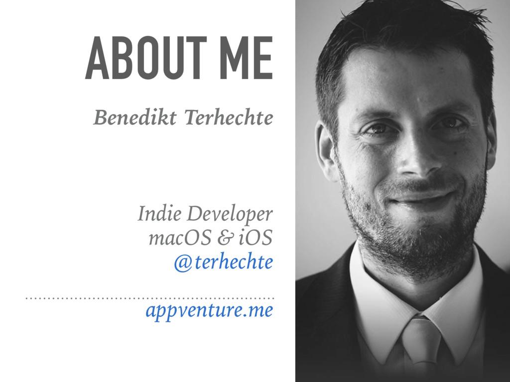 ABOUT ME Benedikt Terhechte Indie Developer mac...