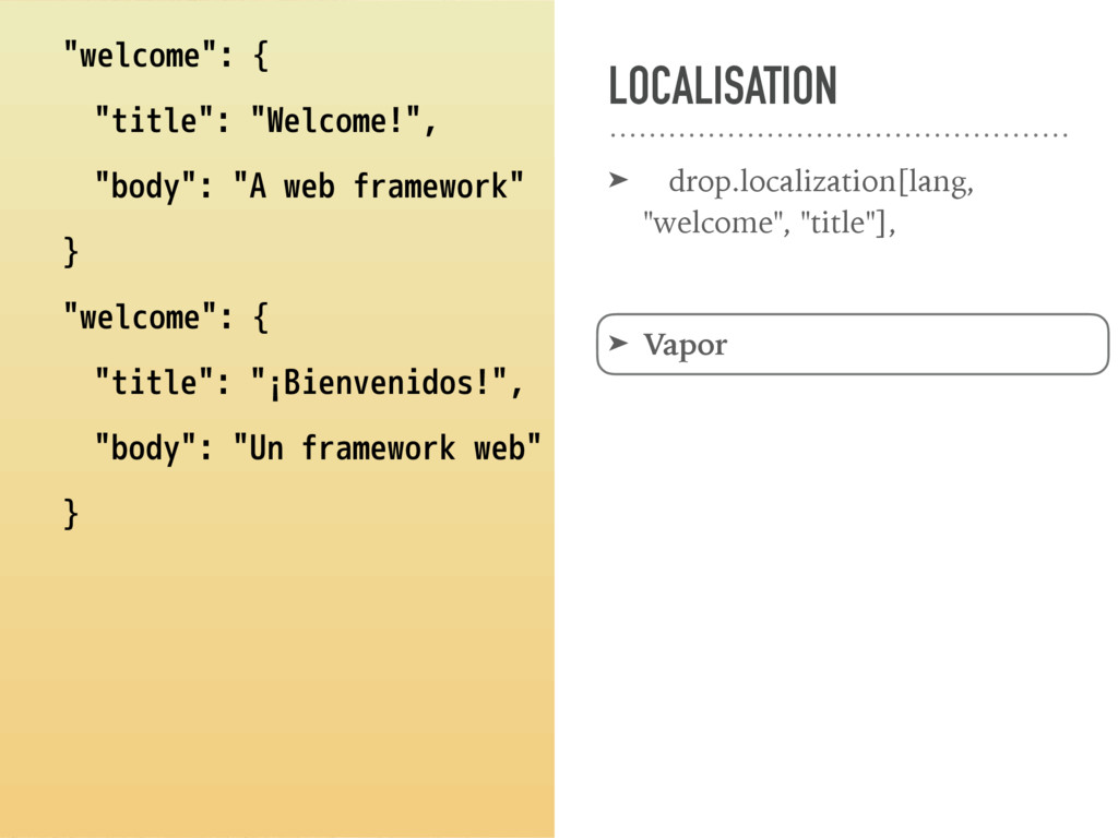 "LOCALISATION ➤ drop.localization[lang, ""welcome..."