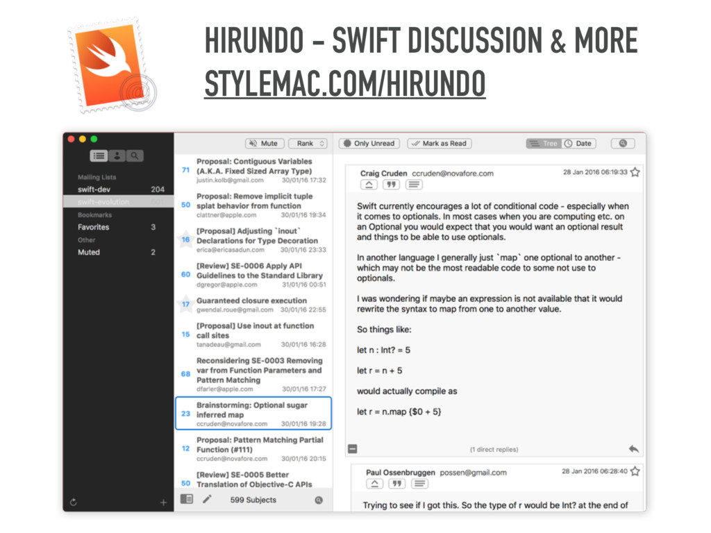HIRUNDO - SWIFT DISCUSSION & MORE STYLEMAC.COM/...