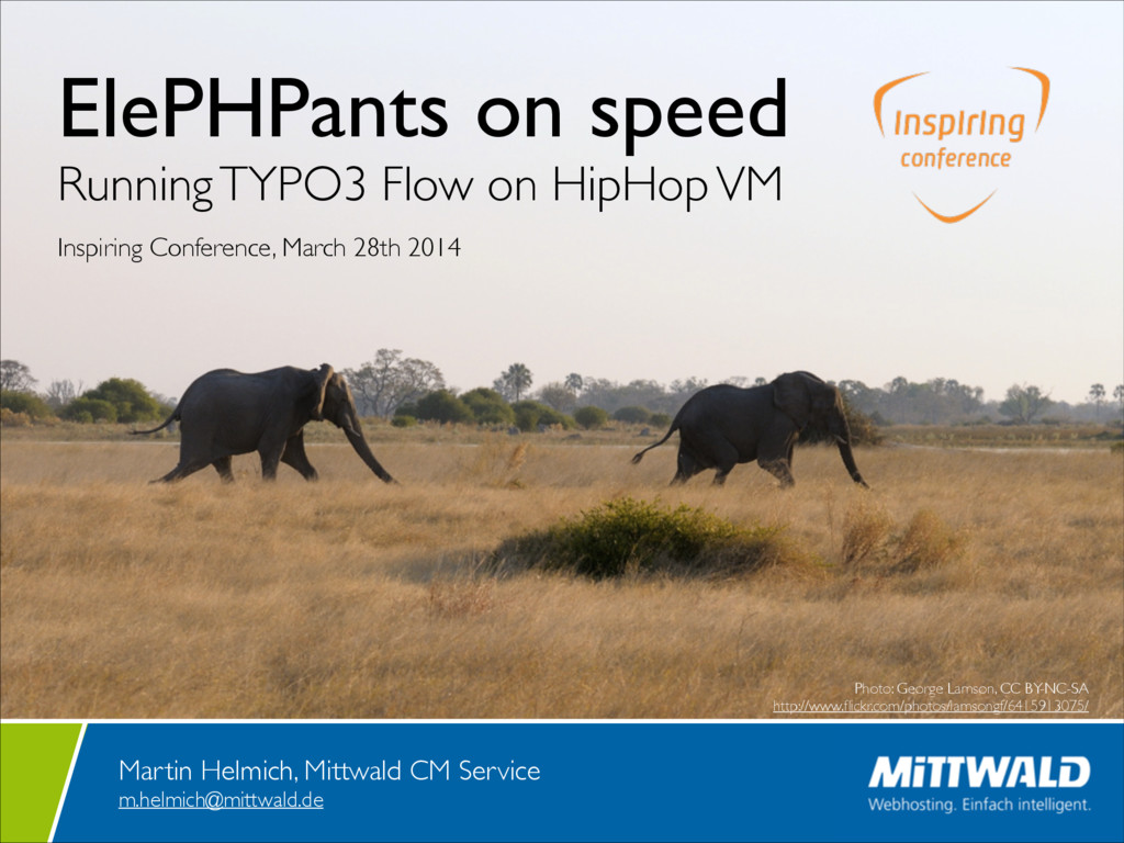 ElePHPants on speed  Running TYPO3 Flow on Hi...