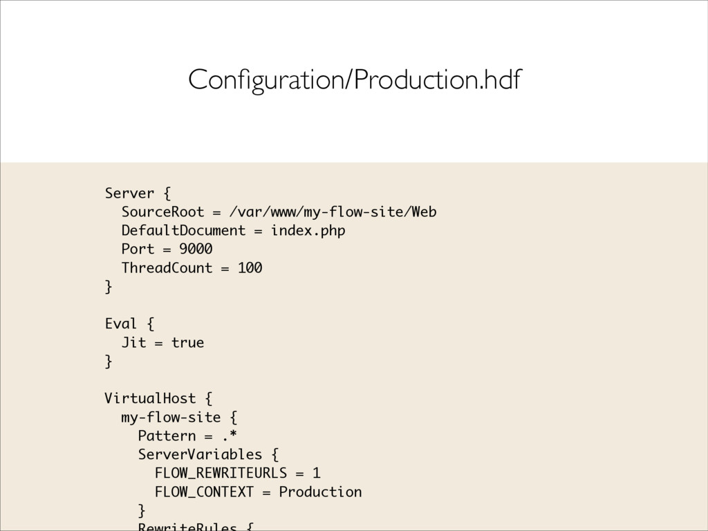 Configuration/Production.hdf Server { SourceRoot...