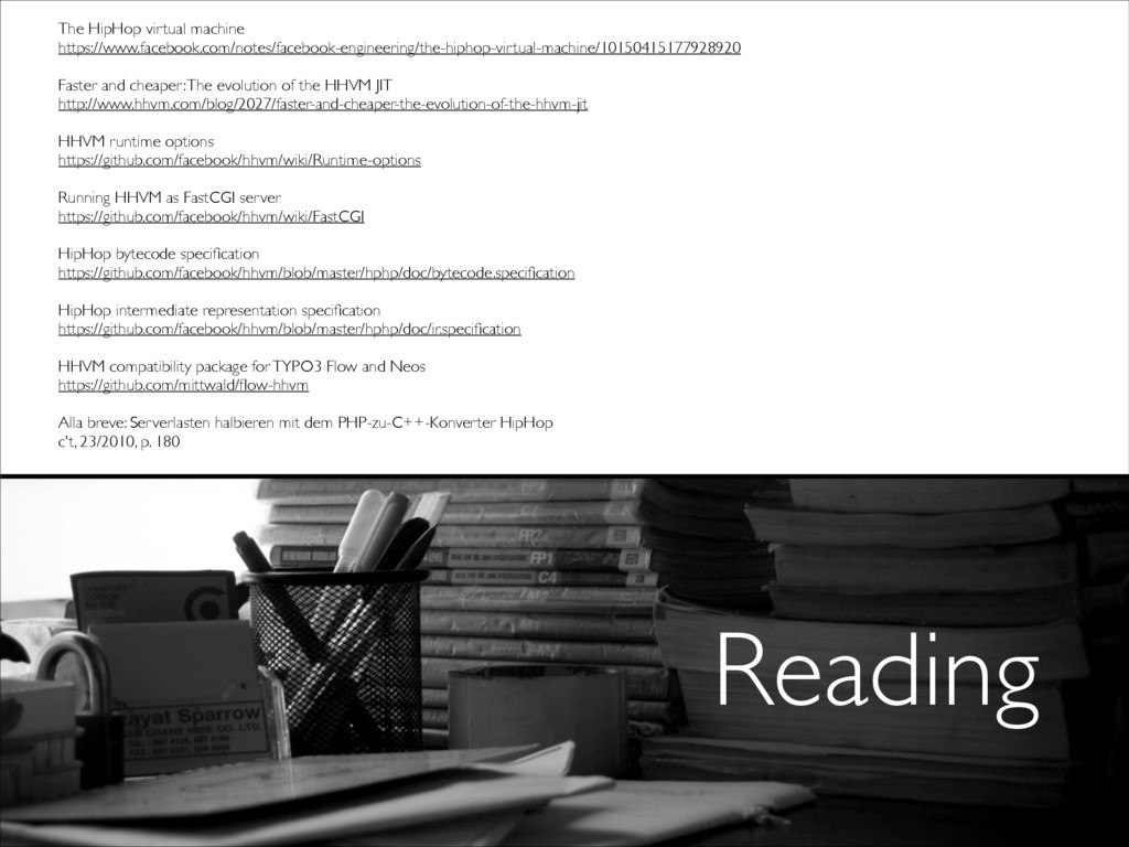 Reading The HipHop virtual machine  https://w...
