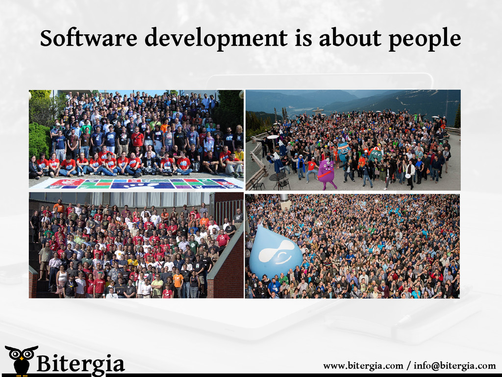 Software development is about people Bitergia w...